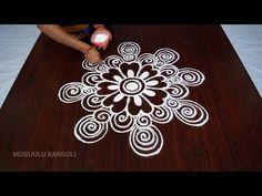 designs rangoli simple designs    free hand rangoli designs video    design of rangoli of free hand - YouTube
