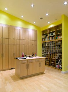 Modern Office Reception Area Design Idea With Yellow Color Cool