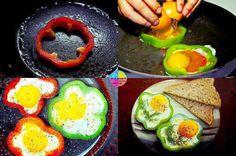 I love eggs - in bell pepper rings!