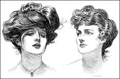 Gibson Girl Hairstyle of very early 1900s.