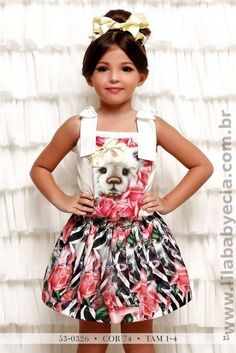 BLUSA Infantil  Com SAIA Miss Cake Doce Princesa 530326