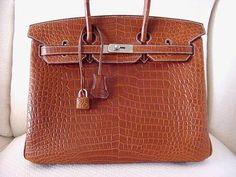 birkin hermes replica - HERMES BIRKIN 35 Bag Matte Alligator CACTUS gold hardware NEW ...