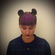 Short Purple fringe