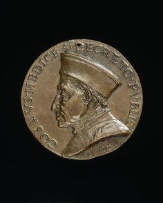 Cosimo de' Medici, 1389-1464, Pater Patriae, obv c. 1465-69.