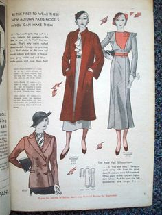Pictorial Printed Patterns, September 1932 featuring Pictorial 6203, 6225-6154 (adapted from Vionnet) and 6223 (adapted from Mirande)