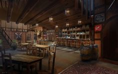 ArtStation - Tavern Interior, Simon Scales