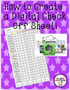 Creating a digital check off sheet