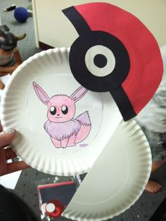 Opening pokeballs made from paper plates and construction paper. Then had the kids pick out their favorite Pokemon, color them, and tape them inside. The kids were so excited for this project that one child threw a tantrum when his mom said they weren't c Pokemon Craft, Pokemon Party, Pokemon Birthday, Pokemon Go, Project Pokemon, Pikachu, 7th Birthday, Christmas Crafts For Kids To Make, Thanksgiving Crafts For Kids