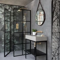 Give your bathroom an urban edge with a crittall-style shower screen. Here are our favourite Crittall-style shower screens in the UK. Loft Bathroom, Small Bathroom, Modern Bathroom, Bathroom Showers, Bathroom Ideas, Black Bathrooms, Shower Rooms, Bathroom Taps, Minimalist Bathroom
