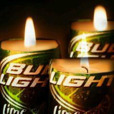 Bud Light Lime candle