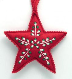 embroidered felt ornament