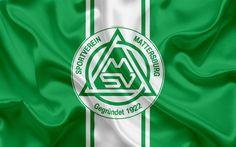 Download wallpapers Mattersburg FC, 4k, Austrian football club, emblem, logo, Austrian Bundesliga, Austrian football championship, football, Mattersburg, Austria, silk texture
