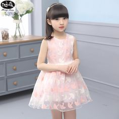 21.44$  Watch here - http://alixuz.shopchina.info/go.php?t=32796988640 - 2017 New Summer Girls Dress Sleeveless O-neck Solid Color Clothes Cute Clothing 21.44$ #magazineonlinewebsite