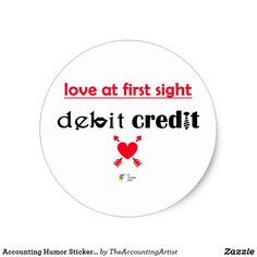 Accounting Humor Sticker - Love at First Sight