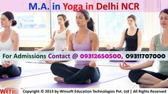 Get detailed information regarding Master Degree Program in Yoga. For admissions and any other related details contact @ 09311707000, 09312650500.