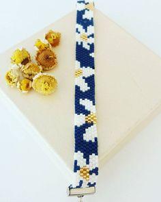 Papatyalı miyukim hazır #miyuki #design #bead #flowers