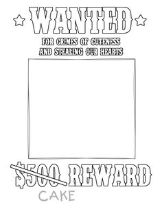 http://timvandevall.com/blank-wanted-poster-template/ | Cowboy ...