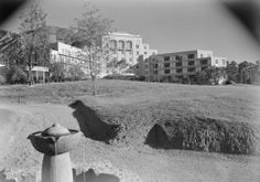 Arrowhead Springs Hotel, Exterior, 1940: Photographer: Maynard L. Parker, The Huntington Library, San Marino, California