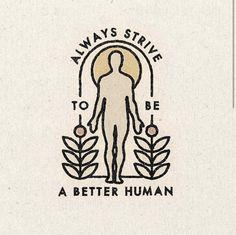 'Better Human' Print - 22\ x 22\
