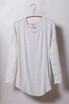 Lace-Sleeved Scoopneck