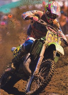 """scramble-motocross-supercross: """" Jeff Ward """" Back around it comes for another lap!"""
