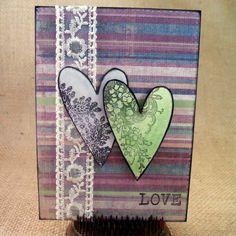 Love Card Handmade Greeting Card by CardsByKitty on Etsy