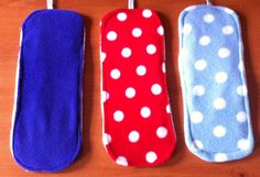 Handmade Plain Purple, Red Polka & Blue Polka Zorb Boosters
