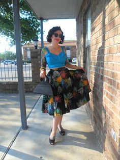 OOTD: Top: My buddy Jackie @ https://www.facebook.com/Jackiegirlcanthelpit?fref=ts , skirt: Etsy (http://www.etsy.com/shop/theragandbone), shoes: goodwill, purse: swap and sell, assorted bangles. This outfit was from the 4th of July. I love the skirt because it reminded me of fireworks.