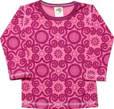 "Kiwi Industries ""Rosy Flora with Raspberry Trim"" T-Shirt"