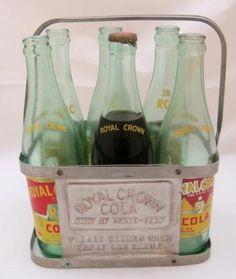 Metal Royal Crown 6 pack bottle holder