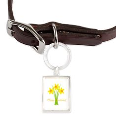 Happy Gardening Yellow Spring Daffodils Pet Tags on CafePress.com