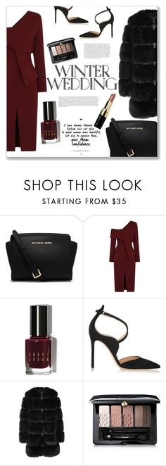 """""""Winter Wedding"""" by turtle03 ❤ liked on Polyvore featuring Michael Kors, Anja, Bobbi Brown Cosmetics, Gianvito Rossi, Givenchy and Guerlain"""