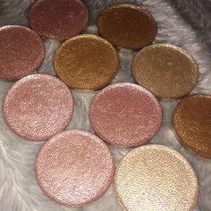 makeup, highlight colours