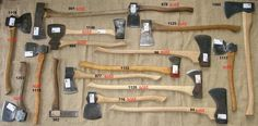 Vintage British Axes for cutting down your own tree!