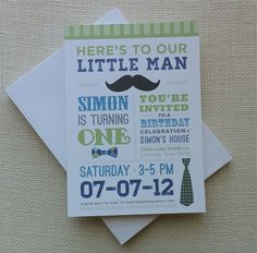 bow tie and ties birthday party invitations