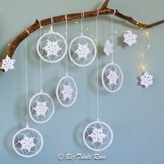 Gratis Patroon – Sneeuwvlokjes tak maken – Bij Tante Roos