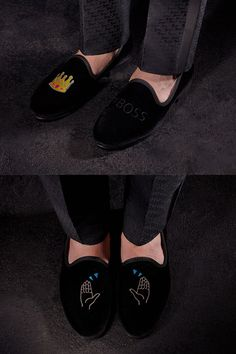 Talk that talk with Del Toro's smartly styled emoji inspired Smoking Loafers! #menswear