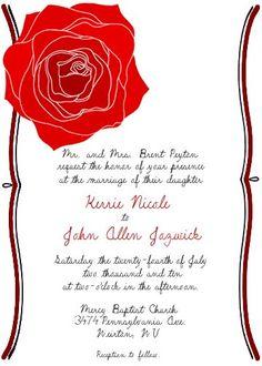 wstoreyshop - Custom wedding invitations - all images hand-drawn