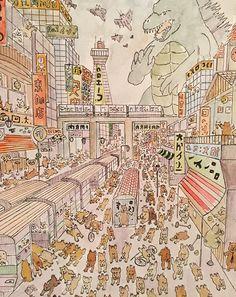 Japan  #illustration  #hamster  #japan