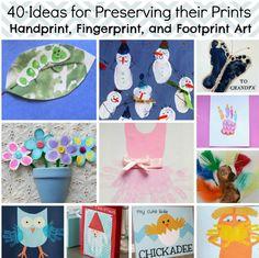 40 Handprint Art, Fingerprint Art, and Footprint Art Projects | AllFreeKidsCrafts.com