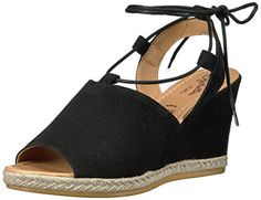 Women's Fashion Sandals Seychelles Women's Whatnot Espadrille Wedge Sandal, Black, 7...
