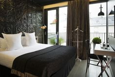 Located a walk from Opéra Garnier and 2953 feet from Galeries Lafayette, Hotel Eugène en Ville is a design-style hotel, decorated in silver. Hotel Paris, Paris Hotels, Boutique Spa, Small Luxury Hotels, Luxury Travel, Great Hotel, Paris France, Bedroom Furniture, Home Decor