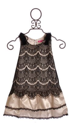 Le Pink Sleeveless Black and Ivory Lace Party Dress $42.00