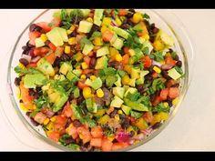 Ensalada de vegetales y frijol