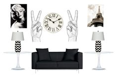 """""""Black and white living room."""" by originallay on Polyvore"""