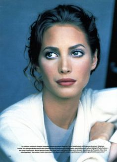 Christy Turlington by Peter Lindbergh for German Marie Claire November 1994 | Make-up artist Stephane Marais.