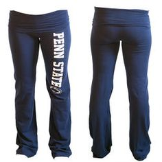 ded2d618f3664 Penn State Womens Juniors Roll Down Yoga Pants Navy Nittany Lions (PSU)  Nittany Lion