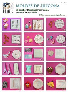 Moldes de Silicona Hoja3 www.titinas.com.ar