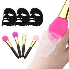 Super Soft Silicone Facial Face Mask Mud Mixing Makeup Brush Applicator Tool #Affiliate