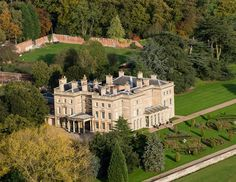 Aerial view of Prestwold Hall